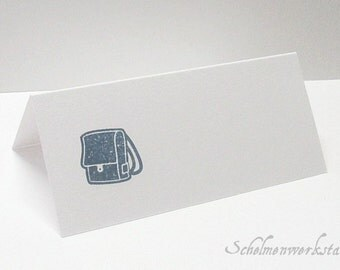 Place card with stamped bags (6 PCs)