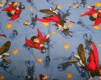 Harry Potter RARE Wizard 2001 Out of Print Fat Quarter