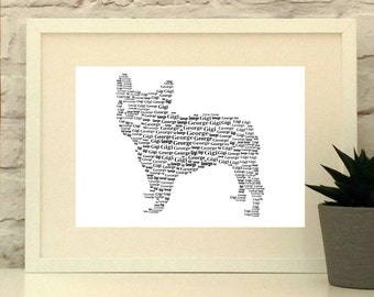 French Bull Dog Print, Custom pet portrait, Dog art, Bulldog, Frenchie, unframed print