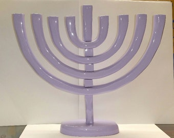 Purple Traditional Menorah,