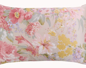 2016 New arrive 100% silk pillowcase with zipper pillow case zipper silk pillowcase zipper pillow sham  standard queen king