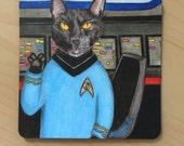 Magnet, Star Trek, Spock, live long and prosper,  2 inches x 2 inches, rounded corners, fridge, list  Perfect Small Gift,