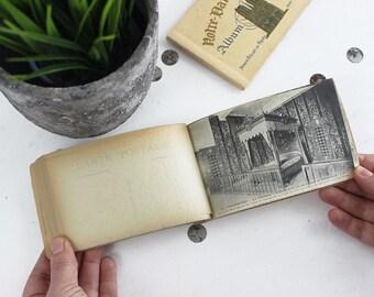 Vintage Postcard Book, French Postcards Set, Antique Postcards Album, Vintage Scrapbook Cards, Paris Postcard, Vintage Post Cards -E372/E373