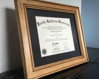 Diploma Certificate Frame Stainless Steel Displays 8 5