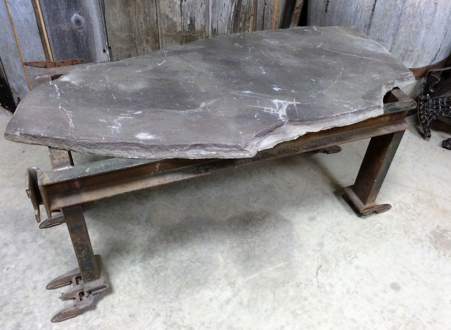 527 custom flagstone coffee table bench plant stand 527 custom flagstone coffee table bench plant stand geotapseo Images