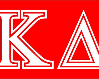 kappa delta letters sorority sticker window laptop car decal vinyl ipad iphone 3 6 8