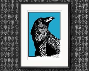 Raven Illustration Print