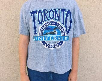 Vintage 80s University of Toronto T-Shirt Made in Canada Calhoun