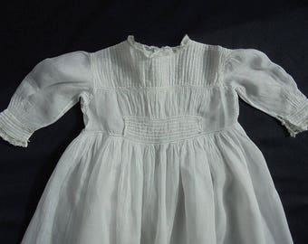 "Victorian Christening Gown - Dress - Handmade - 41"" long"