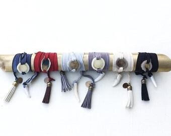Silk antler wrap bracelet
