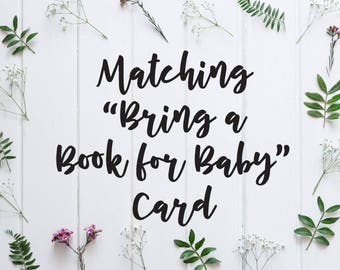 ADD ON: Matching Book Card to coordinate with any Bohemian Woods Design - Design file