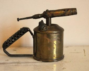 Vintage Copper Blow Torch Max Sievert Stockholm - Collectible - Made in Sweden - Industrial Decoration - Mancave - Benzoline Burner