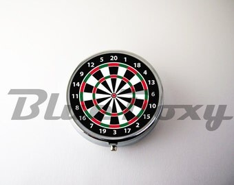 Dartboard Pill Case, Pill Box, Pill Holder