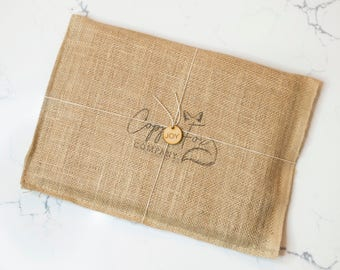 Gift Wrapping & Note for Cutting Boards