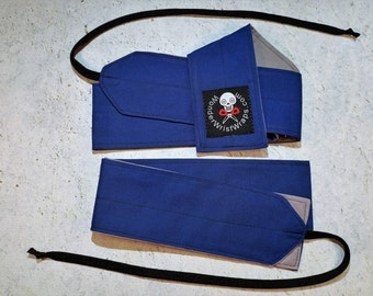 Royal Blue and Gray Wrist Wraps, WOD, Weightlifting, Athletic