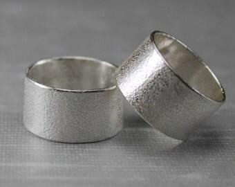 Silver Matching Wedding Band Set - Wedding Bands - Ring Set - His and His