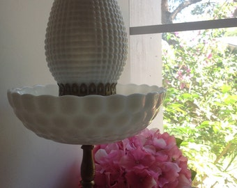Rare Vintage Milk Glass Lamp