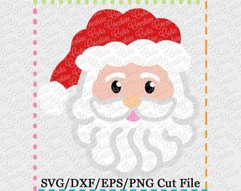 EXCLUSIVE Santa SVG Cutting File, Limited Commercial use! Santa cut file, Christmas svg, Santa cutting file