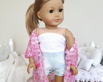 18 inch doll kimono | pink kimono