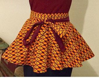 On sale African print Peplum belt //plus size peplum belt //Ankara  peplum waist belt//Peplum belt//Detachable belt//winter fashion//peplum