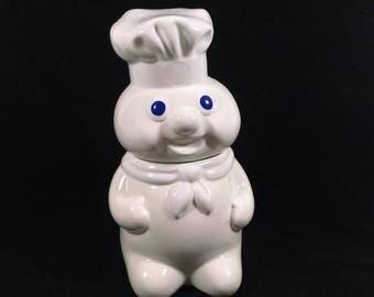 Vintage Pillsbury Dough Boy Cookie Jar by Benjamin Medwin, dated 1988