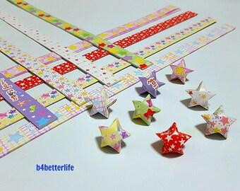 250 strips of DIY Origami Lucky Stars Paper Folding Kit. 26cm x 1.2cm. #P0805. (XT Paper Series).