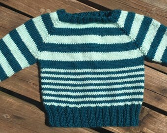 Knit Striped Baby Sweater