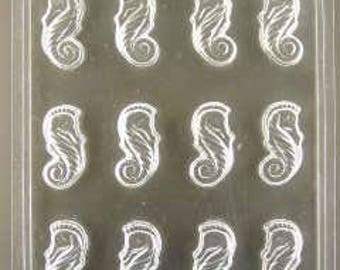 Seahorse cupcake toppers/pieces chocolate mold (ao698)