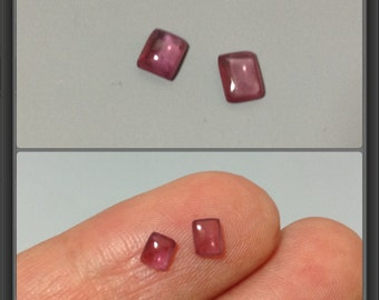 Rubellite cabochons/ 4x3mm