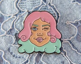 Feminist Enamel Pin // Nasty Women, Feminism, Feminist Brooch Badge Accessories, Feminist Agenda, Pin Game, Feminist Jewelry, Girl Power