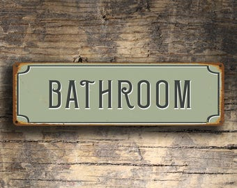 Bathroom door sign – Etsy
