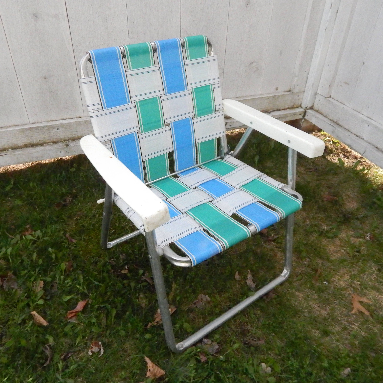 Description. 1960u0027s Vintage Aluminum Lawn Chair ...