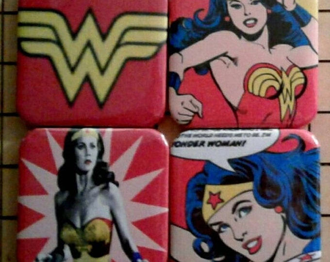Cute Magnets, Wonder Woman, Magnets, DC Comics, Comic Book Art