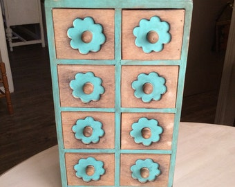 Wooden Apothecary Drawer Organizer