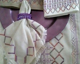 Mardi Gras Huck Embroidery Pattern