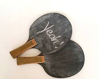 Wedding Sign, Repurposed Ping Pong Paddles