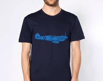 KillerBeeMoto: P40 Warhawk Flying Tiger Fighter Plane Short or Long Sleeve T-Shirt
