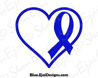Transverse Myelitis, Huntingtons Disease, Alopecia, Erbs Palsy, Tuberous Sclerosis, Colon Cancer Svg, Blue, Cancer Ribbon Svg, Awareness Svg