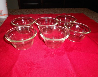 Vintage Pyrex 3 oz Custard Cups set of 6