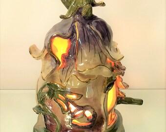 Heather Goldminc Flower Fairy House Tea Light Holder