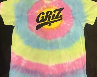 Custom colored griz tie dye shirt
