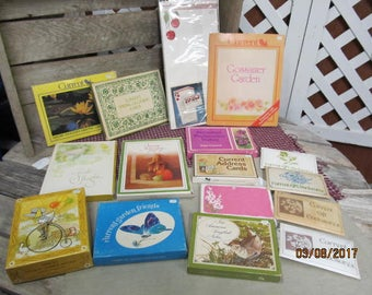 16 Complete Packs Sets of Vintage New Old Stock Current Stationary Notecards Note Cards Stationary Assortment Lot