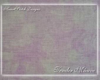Tender Mauve - hand dyed linen/aida/evenweave
