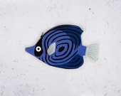 Blue butterfly fish (blue butterfly)-Fish case