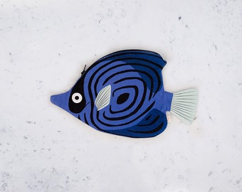 BLUE BUTTERFLY FISH (blue butterfly) - box fish