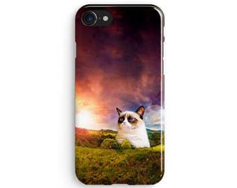 Grumpy Cat - iPhone 7 case, Samsung galaxy S8 case iPhone 6 iphone 7 plus samsung galaxy S7 iphone SE 1P002A