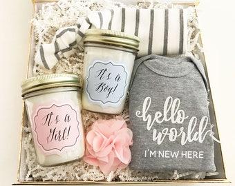 Baby Mason Jar Candle-Baby Shower Gift-New Mom Gift