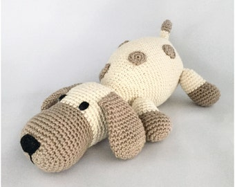 amigurumi pattern dog dots crochet pattern PDF tutorial in German(Deutsch) Englisch and Dutch