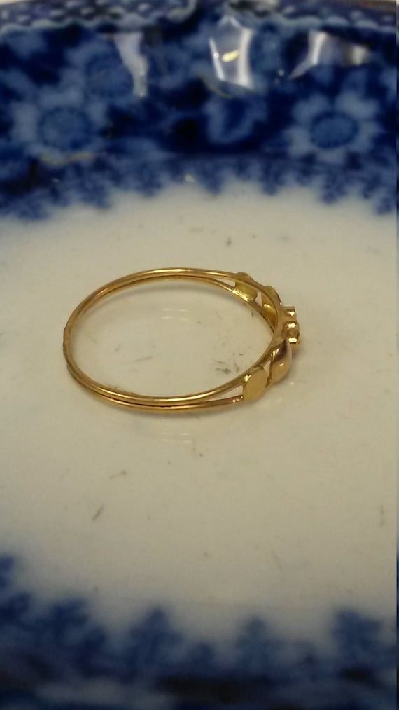 Size 2 25 Estate 18k Yellow Gold Baby Ring Band Midi Pinky 19k