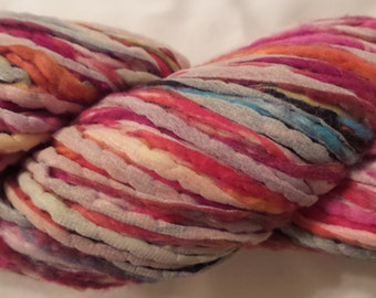Noro NOBORI Heavy Worsted - Bulky Cotton Silk Blend Yarn # 17 Dye Lot A (Red, Pink, Blue, White, Orange, Yellow +) Warm Weather Knitting